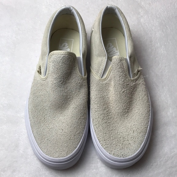 a21d6f1ae3 Vans classic slip on hairy suede turtledove shoes